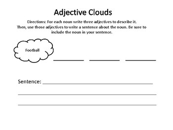 Adjectives in a Sentence