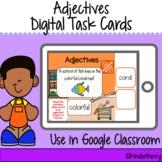 Adjectives 5 Senses Digital Task Cards   Google Classroom