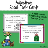 Adjectives 5 Senses Task Cards Scoot Activity