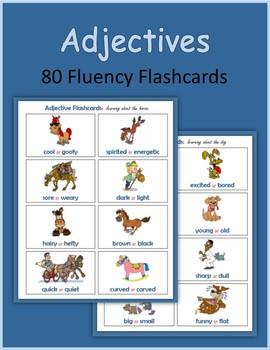 Adjectives (80 Fluency Flashcards)