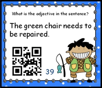 SCOOT Adjectives - A Fishy Tale of Task Cards and QR Codes - meets common core