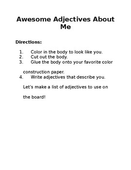 Adjectives About Me