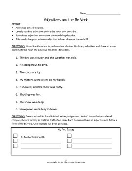 Adjectives Grammar Review and Practice