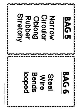 Adjectives Activity Guessing Bags
