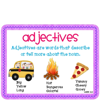Adjectives Activity Pack-Meets Common Core Standards