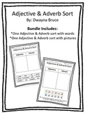 Adjectives & Adverbs Cut & Paste Sorting Activit - (with w
