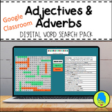 Adjectives & Adverbs Digital Grammar Word Search Pack