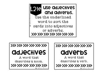 Adjectives & Adverbs L.2.1.E