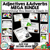 Adjectives & Adverbs Mega Bundle with Lessons, Activities & Assessments