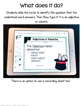 Adjectives & Adverbs - Set 2 - Digital Task Cards - Paperless for Google Use