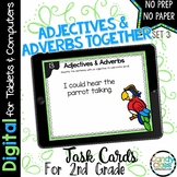 Adjectives and Adverbs Task Cards - Set 3 - 2nd Grade Gram