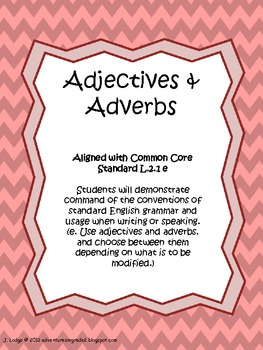 Adjectives and adverbs assessment teaching resources teachers pay adjectives adverbs unit common core fandeluxe Images