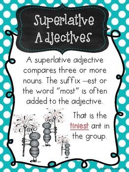 Adjectives Ants {Complete Common Core Adjective Unit}