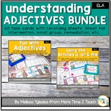 Adjectives | Articles | Parts of Speech | Task Cards Bundle