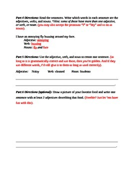 Adjectives Assessment