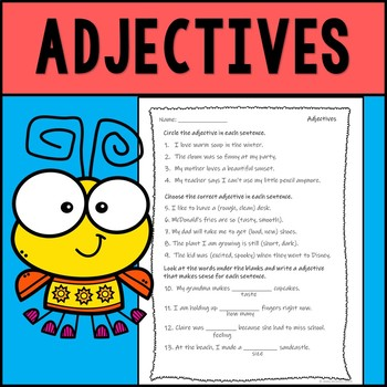 Adjectives Assessment--Review
