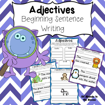 Adjectives - Beginning Sentence Writing