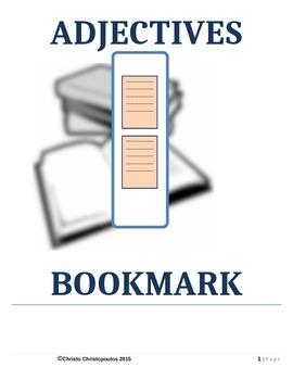 Adjectives Bookmark