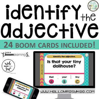 Adjectives ~ Boom Cards 24 Question Game Freebie