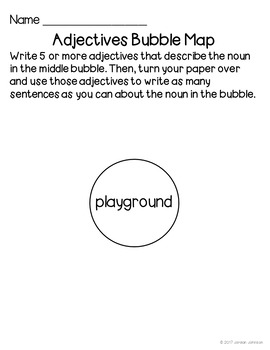 Adjectives Bubble Maps