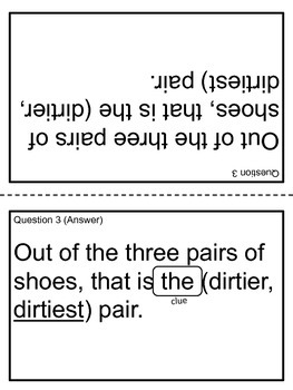Adjectives Card