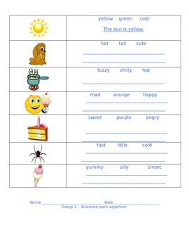 Adjectives Centers-Reading Street Unit 4 Week 1