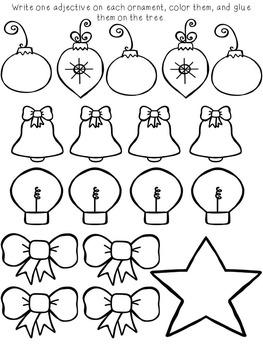 Adjectives Christmas Learning Craft