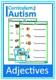 Adjectives Clip Cards Worksheets Autism Reading Literacy ESL Speech