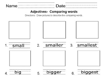 Adjectives- Color, Number and Comparing words