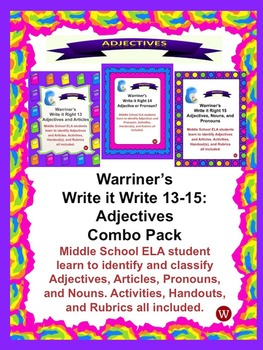 Adjectives Combo Pack: Warriner's Write it Right 13-15