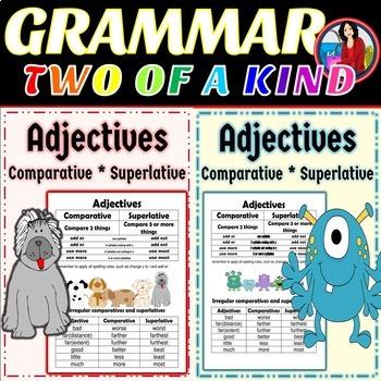 Adjectives Comparative Superlative, 2 of a Kind