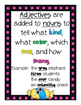 Adjectives & Comparative/Superlative Adjectives