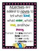 Adjectives & Comparative/Superlative Adjectives