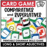 Adjectives :  Comparative and Superlative Card Game