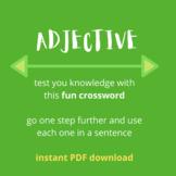 ROMANIAN - Test - Adjectives Crossword