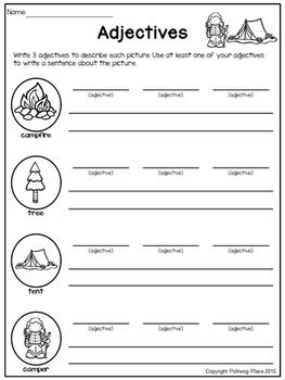 Adjectives Describe Nouns - Making Sentences