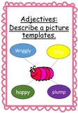 Adjectives: Describing a picture templates