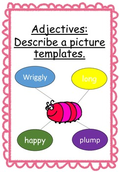 Adjectives: Describing a picture templates