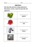 Adjectives: Describing pictures (nouns)