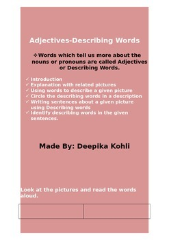Adjectives (Describing words)