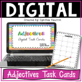 Adjectives Digital Task Cards for Google Slides