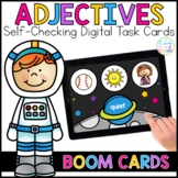 Adjectives Digital Task Cards | Boom Cards™ | Distance Learning