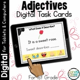 Adjectives Digital Task Cards for Google Classroom and PPT Use