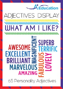 Adjectives Display - WHAT AM I LIKE? (Personality Adjectives)