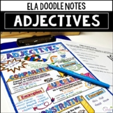 Comparative and Superlative Adjectives Doodle Notes and Practice Worksheet