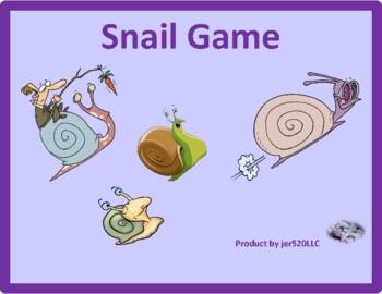 Adjectives (English Adjectives) Snail game