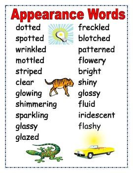 Adjectives, Enhance Writing