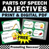 FREE Adjectives Task Cards, Elementary ESL Grammar Games SCOOT