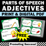 FREE Adjective Task Cards, Grammar Practice