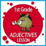 Adjectives Activities + COMPLETE Lesson, COLOR Poster, Adjectives Worksheet